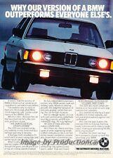 1982 BMW 320i - Outperforms - Original Advertisement Print Art Car Ad J789