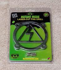 Mutant Mods Lightning Strike 80mm Silver Chrome Laser Cut Fan Grill Guard