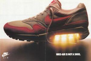 1987 NIKE AIR Poster Print Ad OG FORCE MAX SAFARI MICHAEL JORDAN CHARLES BARKLEY