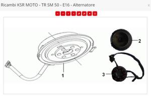 RICAMBI KSR MOTO TR 50 SM X Competition volano rotore '06-17-18-19 Originali E16
