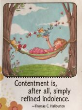 Mary Engelbreit Artwork-Contentment-Handm ade Fridge Magnet