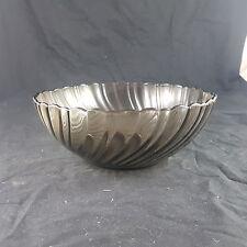 Schale von Arcoroc aus Rauchglas Top 23cm Durchmesser