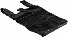 Bags 1/6 Large 21 x 6.5 x 11.5 BLACK T-Shirt Plastic Grocery Shopping Bags