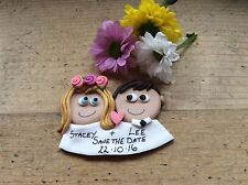 Wedding favours save the date magnets Handmade Personalised Wedding Keepsake