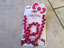 bnwt hello kitty girls bracklet beaded necklace set