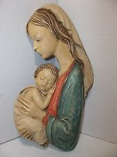 Vintage Italian MADONNA And CHILD Plaque 10""