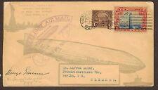 1928 Graf Zeppelin flown cover 1st US Flight Commander Signed Hugo Eckner