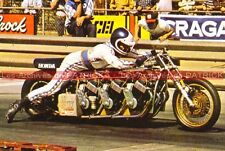 COLLINS Russ : Dragster HONDA 3x CB 750 Four Carte Postale Motorcycle Postcard