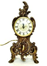 VTG 1970s Imperial Italian Ornate Mantel Clock Bronze/Brass Gilt Baroque Rococo