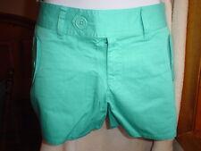 Victorias Secret Vintage Cotton Twill Shorts Size 4 Aqua Blue   NWOT