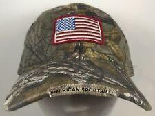 Buck Wear Camo American Flag Cap Hunting America Realtree Hat Adjustable Strap