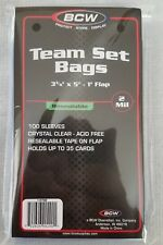 """100 (1 pack) BCW Resealable Team Set Bags - 3 3/8"""" x 5"""""""