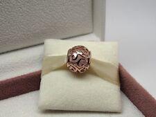 Genuine Rose Gold PANDORA HEARTS FILIGREE Charm 787348CZ ALE R