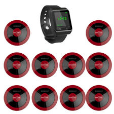 SINGCALL Wireless Restaurant Calling Waiter System 1 Watch, 10 Pagers