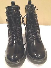 Mudd New Solid Black Patient  Leather Boot SIze 6.5M
