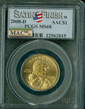 2008-D SACAGAWEA LOGO DOLLAR PCGS MAC MS 68 SF 2ND FINEST SPOTLESS .