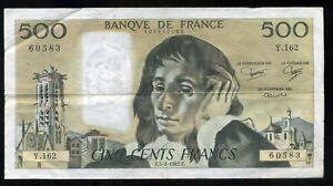 500 francs  PASCAL 05 08 1982        Y 162