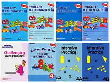 Singapore Primary Mathematics Grade 4 Complete Set (8 Books)