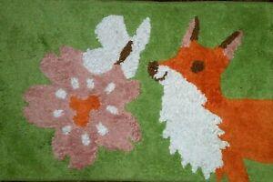 "Young FOX Cotton Plush Throw Rug 20 x 32"" Bath Baby Casual NEW"