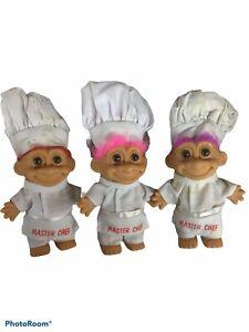 Lot of 3 Russ Master Chef Troll Dolls