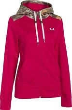 Under Armour Womens L STORM Full Zip Hoodie Fury- Red Camo 1260175 $85