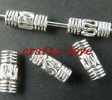 250pcs Tibet Silver Nice Tube Spacers 8x3.5mm 27-1