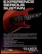 1989 EXPERIENCE SERIOUS SUSTAIN HAMER GUITARS AD