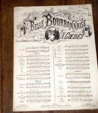 choeur des bergers La belle Bourbonnaise partition piano chant 1874 Coedès signé