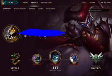 League of Legends EUW Account LOL 88 champs 65 skin Silver 4 GREAT SKIN