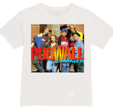 Pugwall t-shirt - all sizes in stock - message after purchase - orange organics