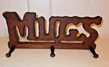 "Wooden Rustic Primitive Kitchen ""MUG"" Plaque"