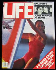 Life Magazine February 1981 VTG - John Lennon Yoko Ono Beatles - Wind Surfing