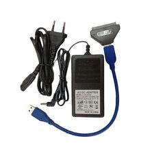 USB 3.0 To SATA 22Pin Adapter Converter For 2.5 3.5inch Hard Disk EU Plug Neu