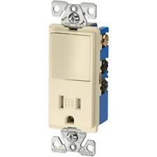 250-packs 15 Amp Tamper R Single Pole Decorator Rocker Switch Receptacle almond