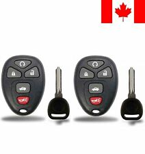 2x New Replacement Keyless Entry Remote Control Key Fob For Chevy Buick Cadillac