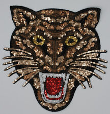Sequin Patch: Ferocious Cat