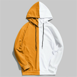 Mens Pullover Hip Hop Streetwear Mixed Colors Casual Hoodie Sweatshirt Fashion