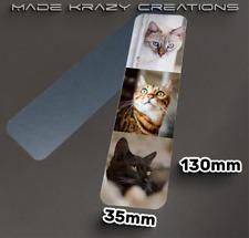 Personalised photo Aluminium Bookmark 130 x 35mm