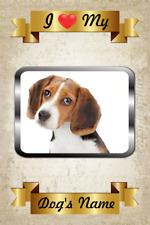 Beagle Magnet Personalized Name I Love Dog My Flex Fridge
