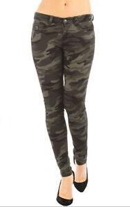 Women Camo Skinny Fit Pants 11 ~ 13