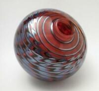 SIGNED DENIZEN ROBERT WYNNE IRIDESCENT FEATHERED AUSTRALIAN ART GLASS VASE