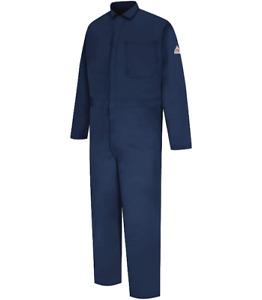 BULWARK MENS COVERALL EXCEL FR 58-RG 58 REGULAR NAVY BLUE 100% COTTON NEW NWOT