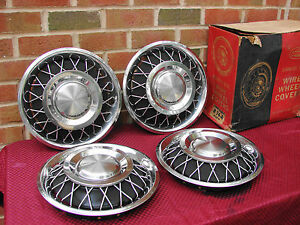 "60-65 FORD MECURY NOS ROTUNDA NOS 13"" WIRE WHEEL HUBCAPS pt# C4OZ-1130-T"