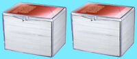 2 ULTRA PRO 150 COUNT CLEAR HINGED CARD STORAGE BOXES Case Holder Sports Trading