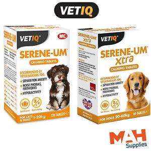 VetIQ Serene-Um Extra Dog Calming Tablets Stress Fireworks Anxiety Cat Calming