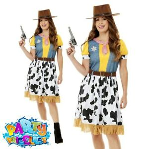Adult Ladies Woody Jessie Western Cowgirl Costume Book Day Fancy Dress Outfit