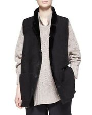 NWT Eskandar BLACK Leather Shearling Imperial High-Neck Waistcoat (0) $3495