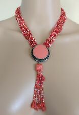 Opening. 42 Cms Without Pendant Lovely Pink Beaded Pendant Necklace, Clasp