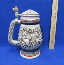 Avon Beer Stein Lidded Classic Cars MG Bugatti Ford Model T Stanley Vintage