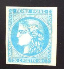 France N° 46B 20 C Bleu NSG  Très Frais TB Aspect Cote 450€